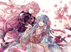 Manga Miku and Megurine