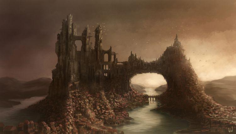 Wallpapers Fantasy and Science Fiction Fantasy Landscapes Castel Aroldan