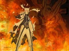 Manga Naruto Kyubi control