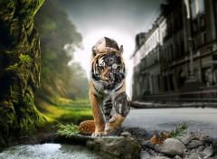Digital Art Tigre etrange