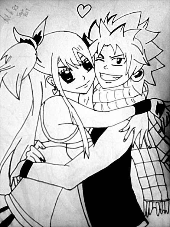 Fonds d'écran Art - Crayon Manga - Fairy Tail Lucy & Natsu de fairy tail