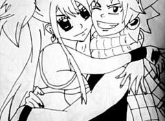 Art - Crayon Lucy & Natsu de fairy tail