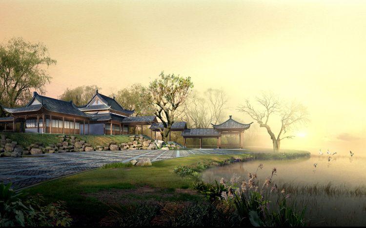 Fonds d'écran Art - Numérique Nature - Paysages Paysage Asiatique