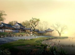 Digital Art Paysage Asiatique