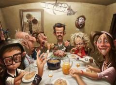 Digital Art Souvenirs de repas de famille.
