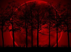 Digital Art Red moon