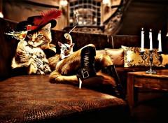 Art - Numérique Miss cat smoking