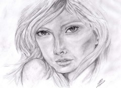 Art - Pencil portrait femme