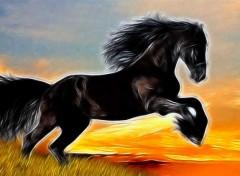 Animaux cheval pastel