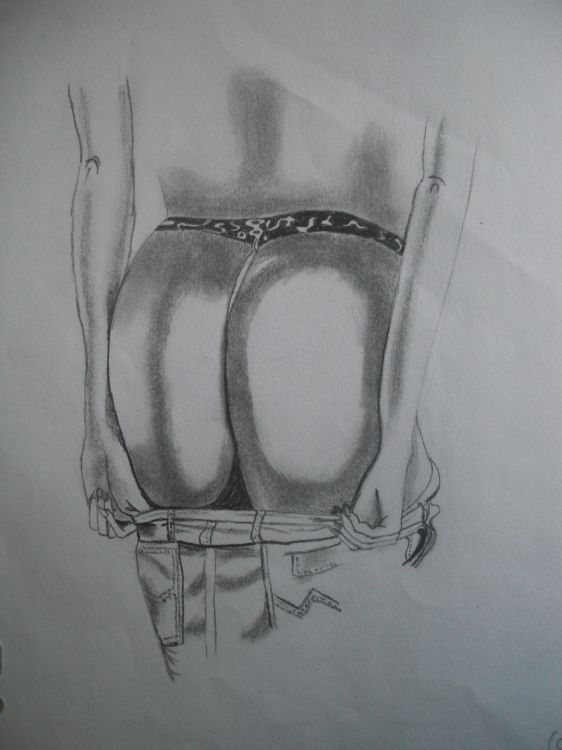 Wallpapers Art - Pencil Women - Femininity une paire de fesse