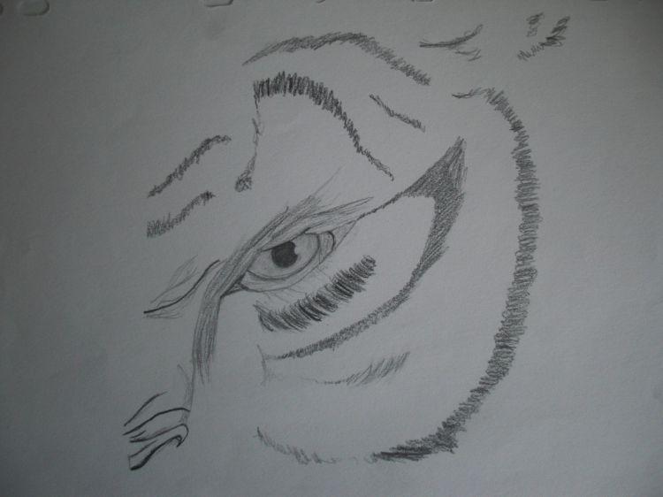 Wallpapers Art - Pencil Animals - Tigers l'oeil du tigre