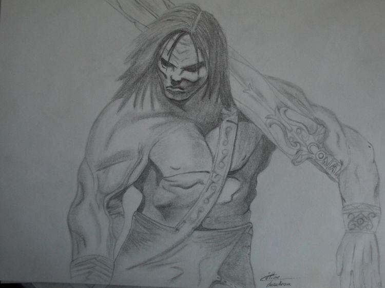 Wallpapers Art - Pencil Fantasy - Characters Conan le barbar