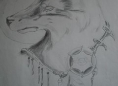 Art - Pencil loup indien