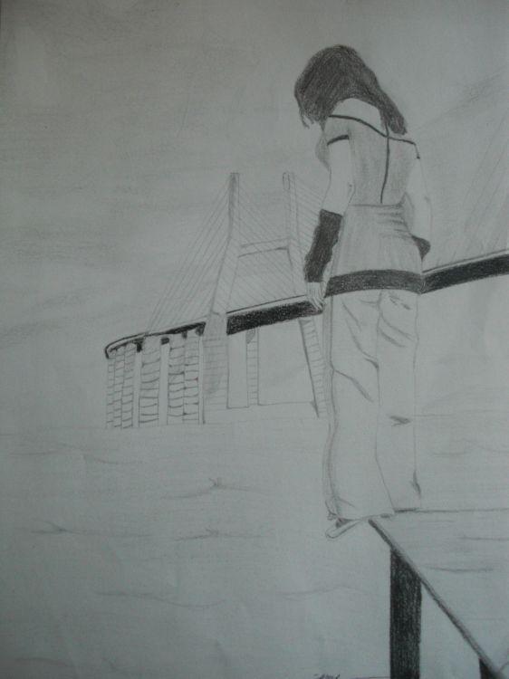 Wallpapers Art - Pencil Miscellaneous Suicide