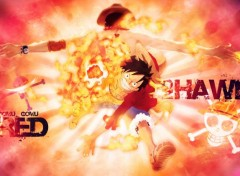Manga Luffy Red Hawk
