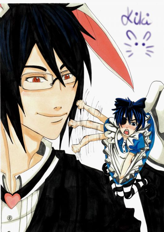 Fonds d'écran Manga Kuroshitsuji (Black Butler) fan art black butleur