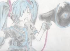 Art - Crayon Miku Hatsune - Love is war