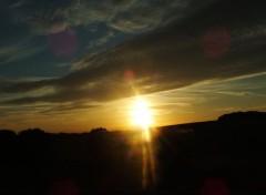 Nature coucher de soleil alsacien