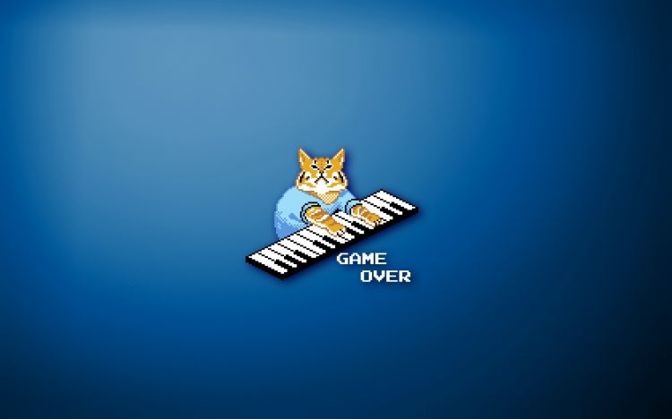 Wallpapers Humor Fun with friends Keyboard Cat Game Over