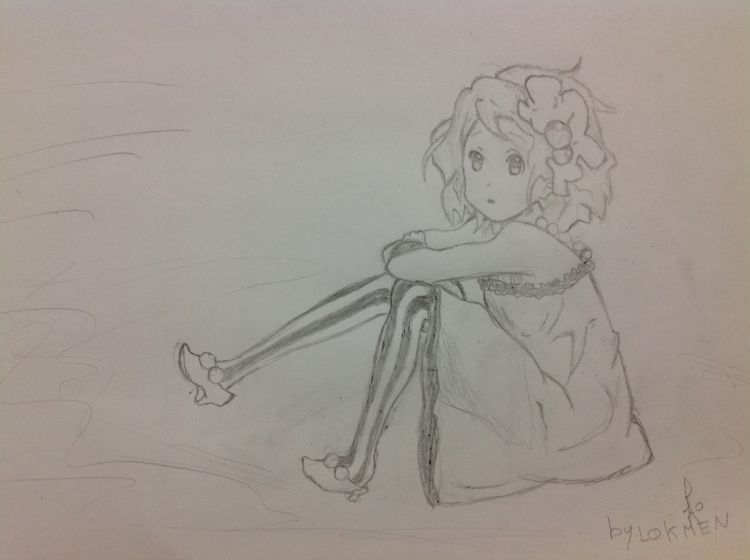 Fonds d'écran Art - Crayon Manga - Divers K-ON! Yui