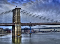 Trips : North America Manhattan Blue Bridge