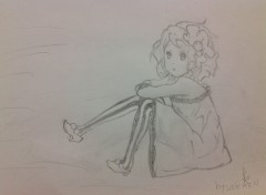 Art - Pencil K-ON! Yui