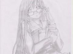Art - Pencil belle écolière