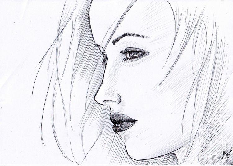 Fonds d'écran Art - Crayon Femmes - Féminité bic1