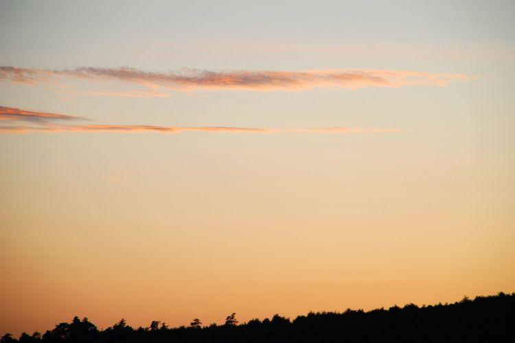 Fonds d'écran Nature Couchers et levers de Soleil Un soir comme un autre dans la campagne drômoise