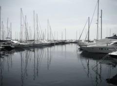 Boats Port du lavandou au petit matin