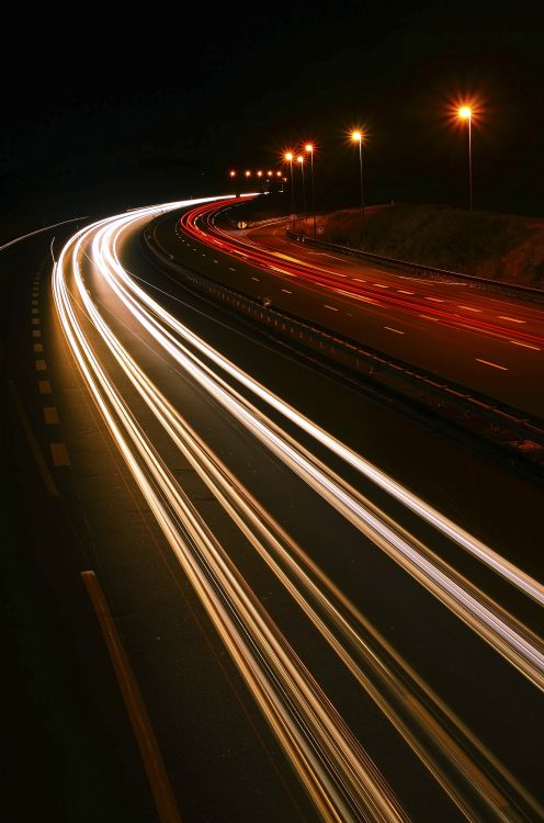 Wallpapers Constructions and architecture Roads - Motorways Freeway by night
