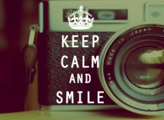 Objets Keep Calm And Smile