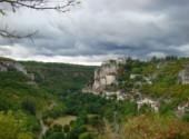 Voyages : Europe Ciel d'orage sur Rocamadour