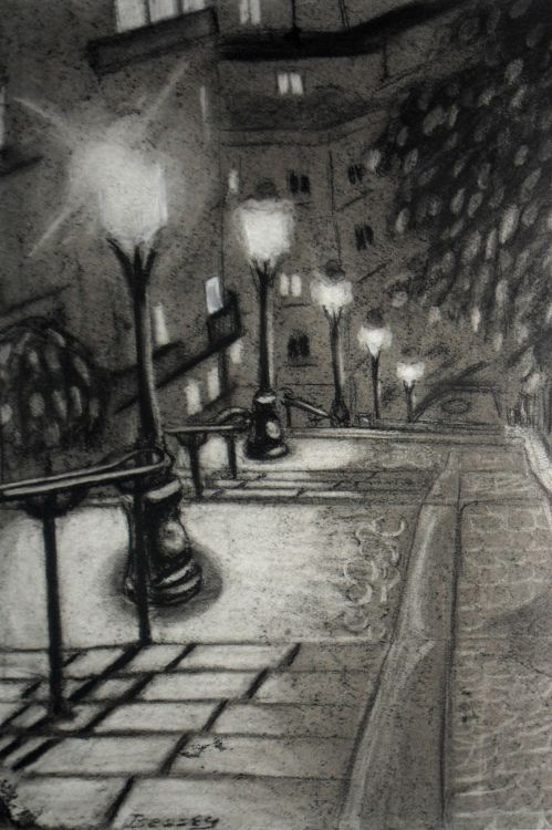 Wallpapers Art - Pencil Architecture - Urbanism - Monument Paris la nuit