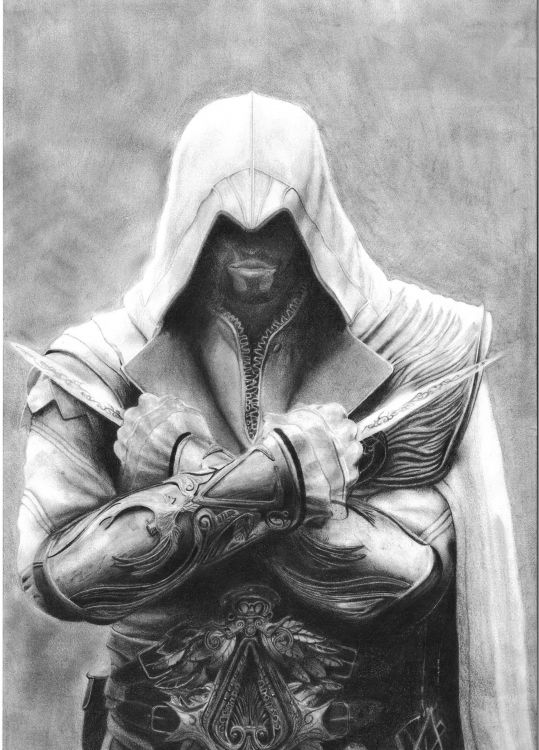 Wallpapers Art - Pencil Video games Ezio Auditore