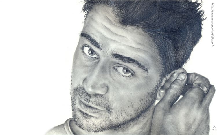 Wallpapers Art - Pencil Portraits Colin Farell