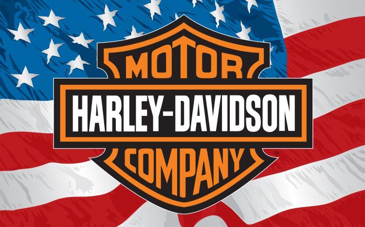Fonds d'écran Motos Harley Davidson Harley Davidson & American Flag