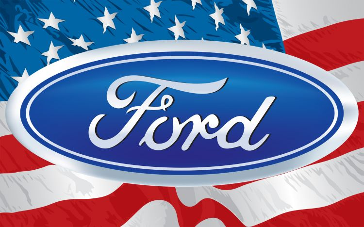 Fonds d'écran Voitures Ford Ford & American Flag