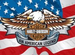 Motorbikes Harley Davidson & American Flag