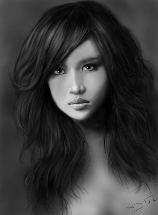 Wallpapers Digital Art Portraits Yumiko