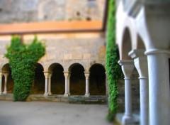 Constructions et architecture cloître d'une ancienne abbaye