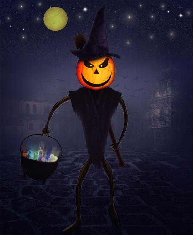 Wallpapers Digital Art Hollidays - Halloween on mange ou on se venge ?...!