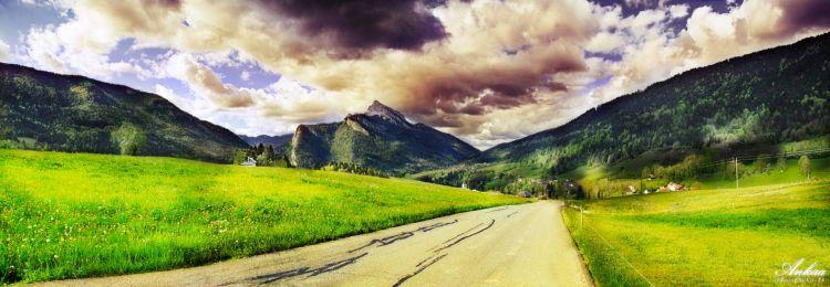 Fonds d'écran Nature Montagnes Traversée de printemps