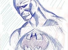 Art - Pencil Batman au stylo bille