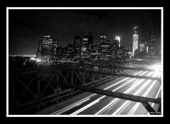Trips : North America Photo prise du Pont de Brooklyn en pose longue