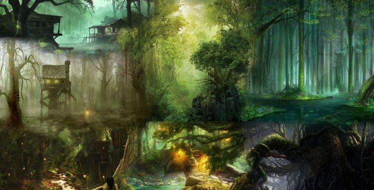 Fonds d'écran Fantasy et Science Fiction Paysages Fantasy Wallpaper N°320254