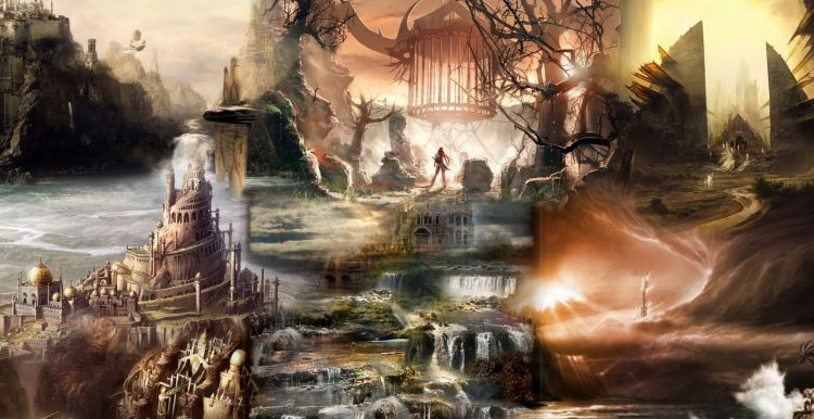 Fonds d'écran Fantasy et Science Fiction Paysages Fantasy Wallpaper N°320443