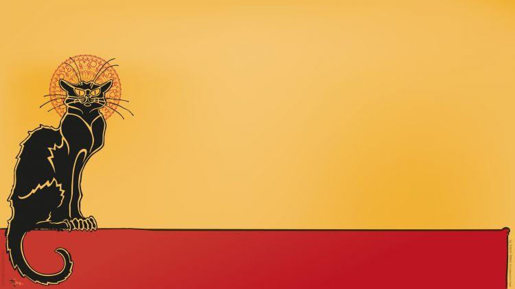 Wallpapers Brands - Advertising Advertising posters La Tournée du Chat Noir - The Black Cat Tour (B)