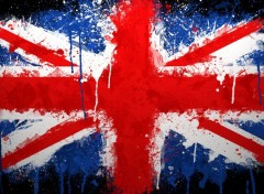 Digital Art Drapeau anglais coulures