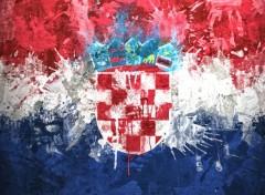 Art - Numérique Drapeau Croatie